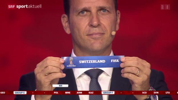 Video «Fussball: Auslosung WM-Qualifikation 2018» abspielen