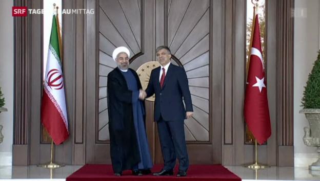 Video «Iranischer Präsident besucht Türkei» abspielen