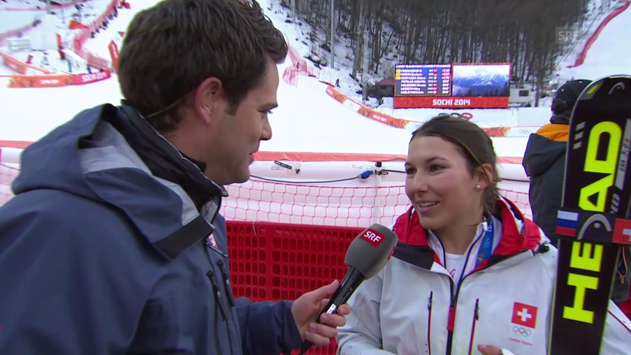 Ski Alpin: Slalom Frauen, Interview mit Wendy Holdener (sotschi direkt, 21.2.2014)
