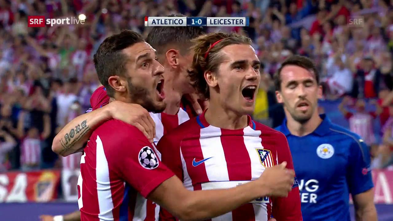 Atletico muss sich gegen Leicester mit einem 1:0 begnügen