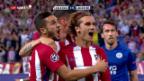 Video «Atletico muss sich gegen Leicester mit einem 1:0 begnügen» abspielen