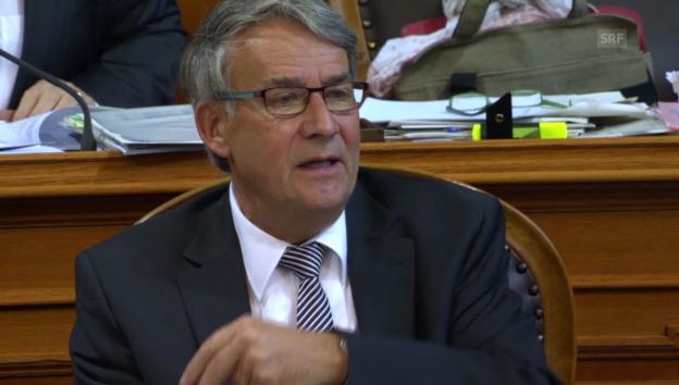Video «Urs Schwaller von der CVP findet die Initiative unbrauchbar» abspielen