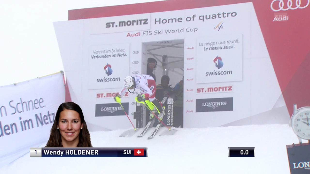 Die Slalomfahrt von Wendy Holdener