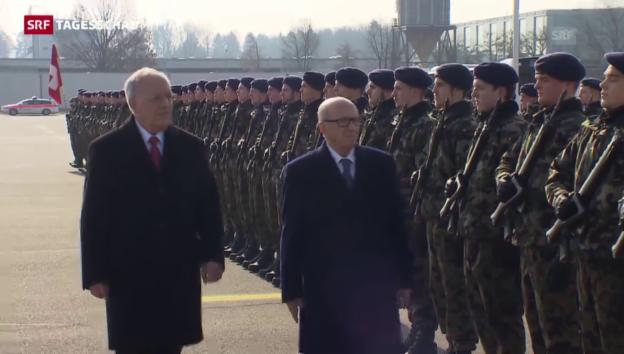 Video «Tunesiens Präsident besucht die Schweiz» abspielen
