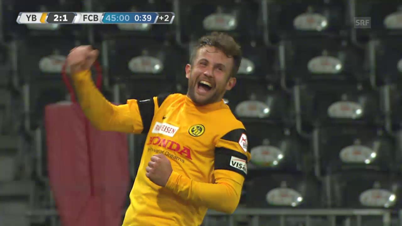 Fussball: YB - Basel, Die Tore von Miralem Sulejmani