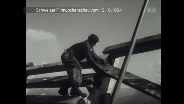 Video «Schweizer Filmwochenschau vom 15.10.1954» abspielen