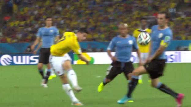 Video «Fussball: Das Tor von James Rodriguez» abspielen