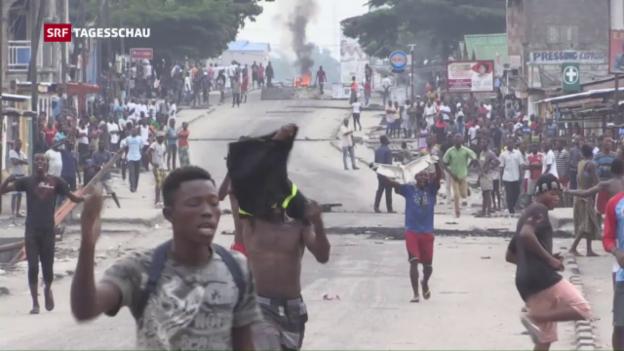 Video «Unruhen nach Amtszeitüberschreitung im Kongo» abspielen
