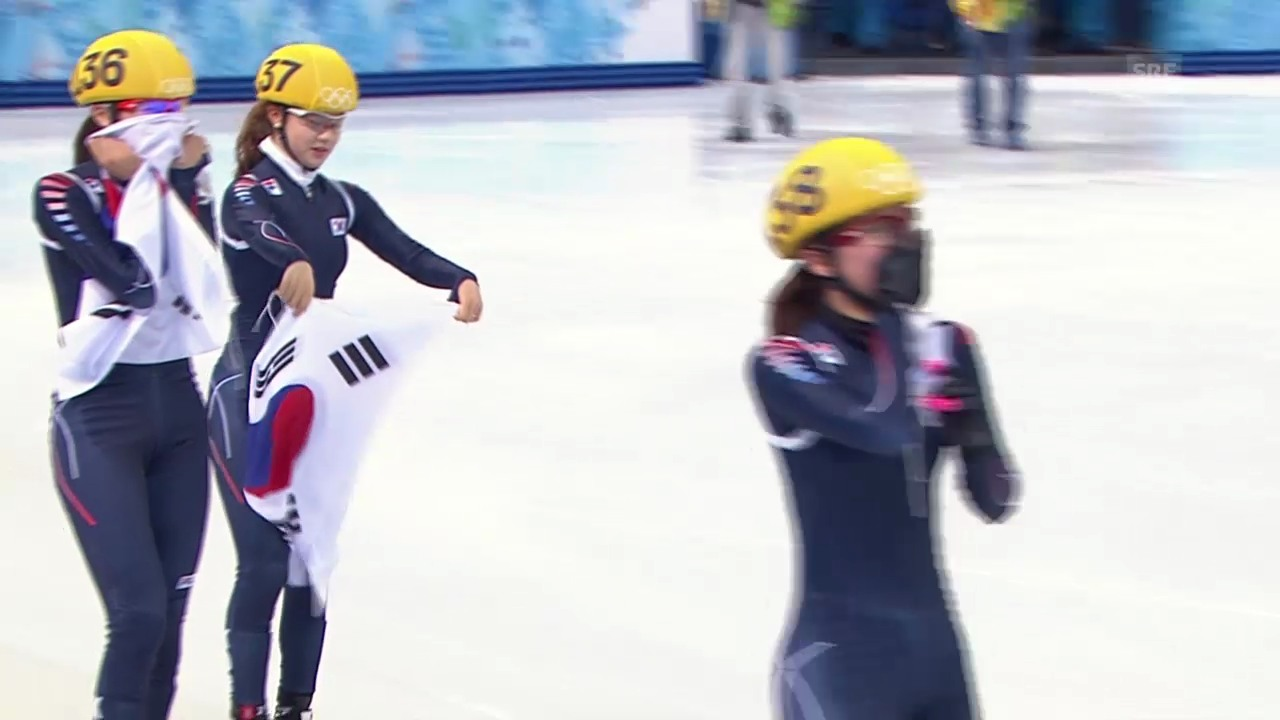 Shorttrack: 3000m Staffel Frauen, Final (sotschi direkt, 18.2.2014)