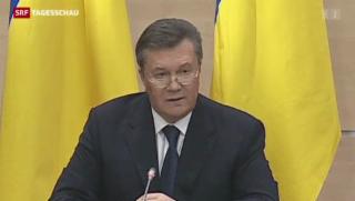 Video «Janukowitsch wirft Westen Wortbruch vor» abspielen
