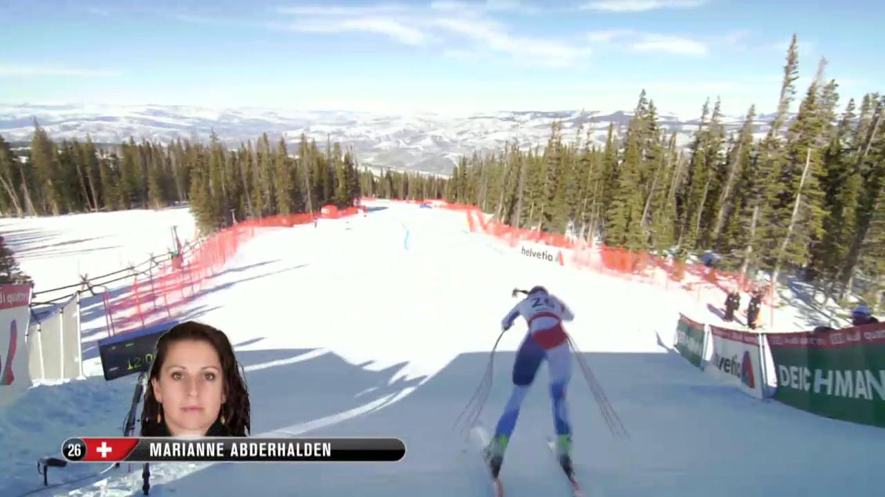 Ski: WM 2015 Vail/Beaver Creek, Abfahrt Frauen, Fahrt Marianne Abderhalden