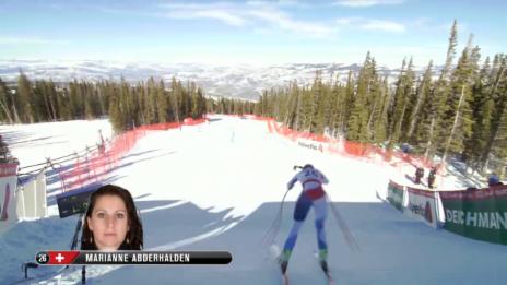 Video «Ski: WM 2015 Vail/Beaver Creek, Abfahrt Frauen, Fahrt Marianne Abderhalden» abspielen