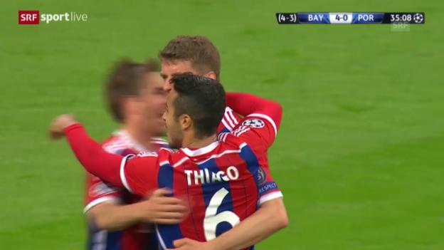 Video «Fussball: Champions League, Bayern-Porto, Highlights» abspielen