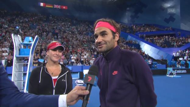 Video «Das sagen Federer und Bencic zum Abenteuer Hopman Cup» abspielen