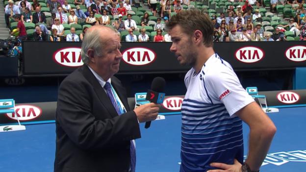 Video «Tennis: Australian Open, Platzinterview Wawrinka» abspielen