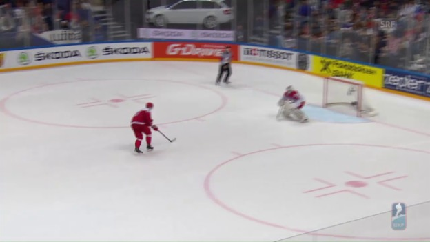 Video «Eiskalte Dänen gewinnen Shootout gegen Tschechien» abspielen