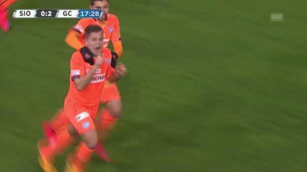 Video «Fussball: Super League, 26. Runde, Sion - GC, 0:2 Amir Abrashi» abspielen
