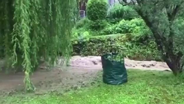 Laschar ir video «Inundaziuns a Wohlenschwil AG»