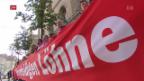 Video «Gewerkschaften bekräftigen Haltung zu Rahmenabkommen» abspielen
