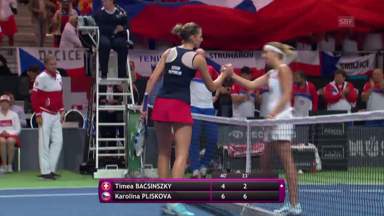 Die Live-Highlights bei Bacsinszky - Pliskova