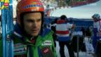 Video «Ski: Das 2. Abfahrtstraining am Lauberhorn» abspielen