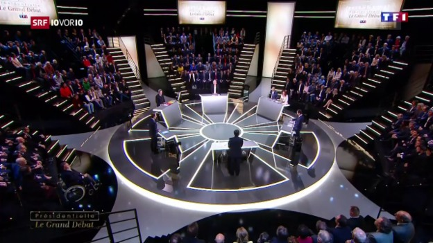 Video «Le Pen und Macron im Fokus» abspielen