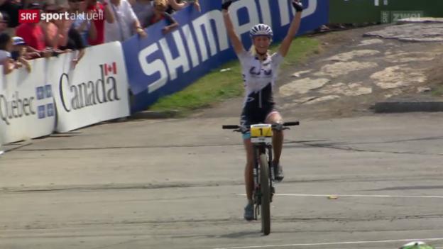 Video «Mountainbike: Jolanda Neff in Mont-Sainte-Anne» abspielen