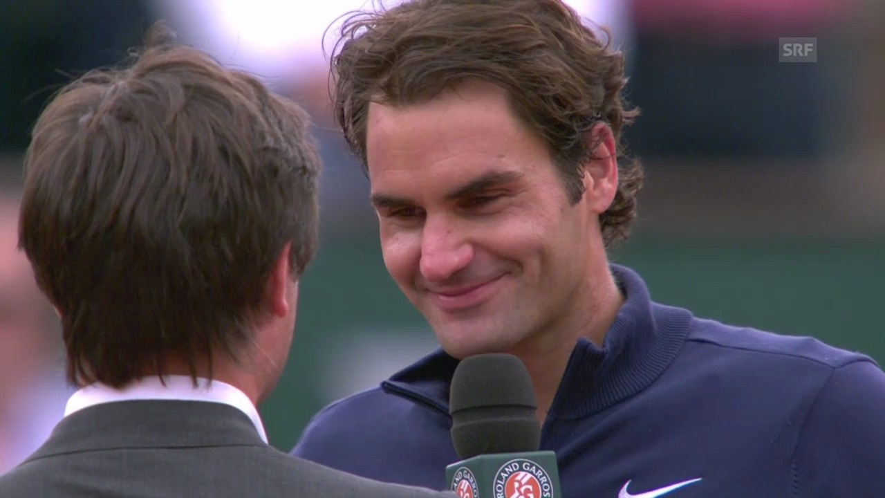 Tennis: French Open, Roger Federer im Platzinterview
