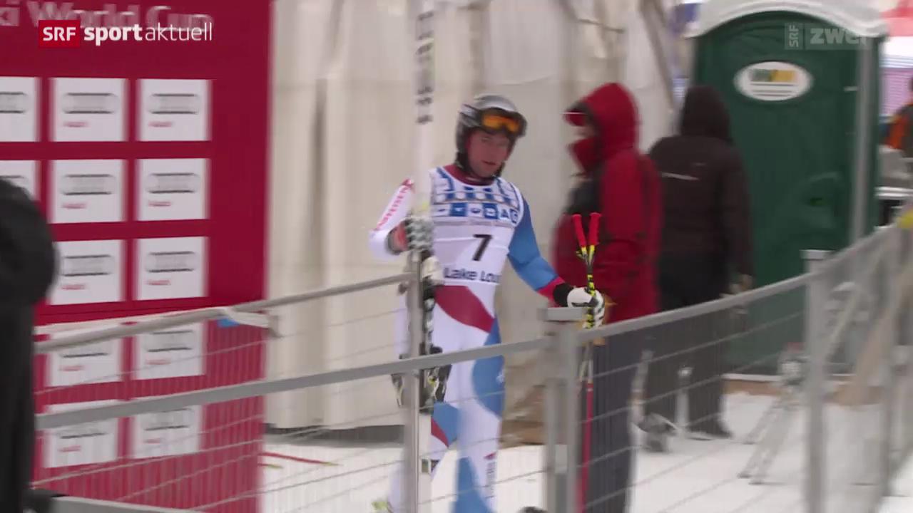 Ski: Beat Feuz vor der Abfahrt in Lake Louise