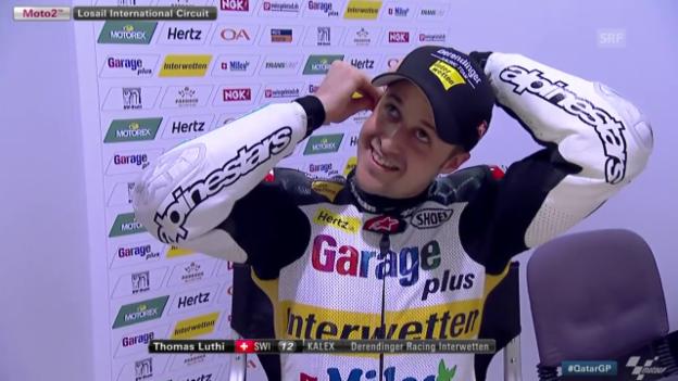 Video «Motorrad: GP Katar, 2. Trainingstag von Tom Lüthi» abspielen