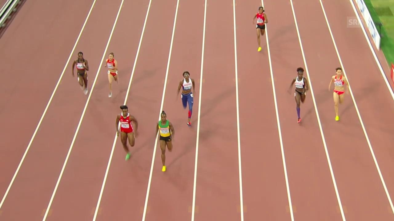 Leichtathletik: WM Peking, Campbell-Brown läuft auf der falschen Bahn