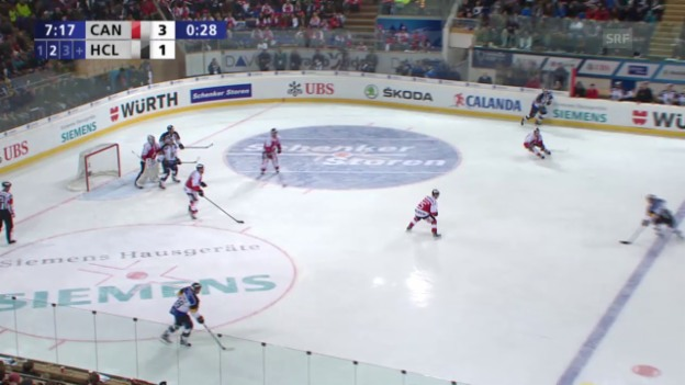 Video «Eishockey: Spengler Cup, Team Canada - Lugano, 3:2 durch Chiesa» abspielen