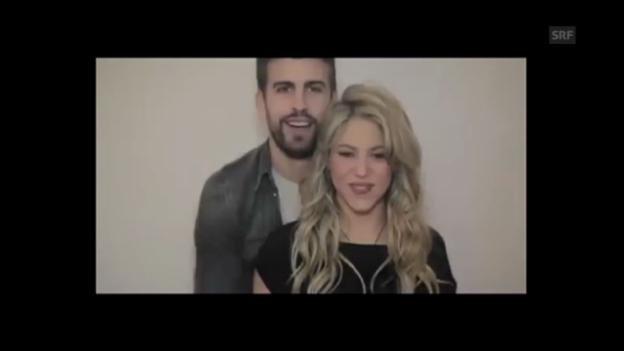 Video «Shakira und Piqué laden zur Babyparty ein» abspielen