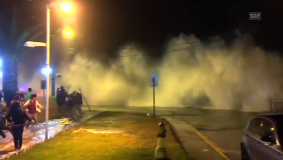 Gewaltiges Wellenspektakel in Chile