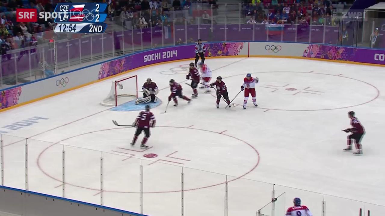 Eishockey: Tschechien besiegt Lettland
