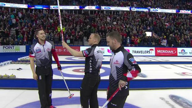 Video «Kanada zieht in den Final ein (EVS)» abspielen