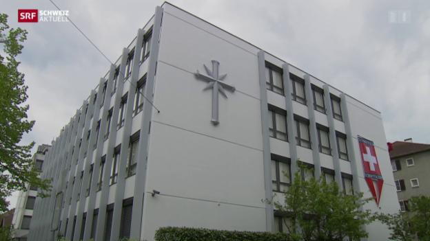 Video «Scientology-Gebäude unter Protest eröffnet» abspielen