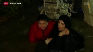 Video «Kalte Realität für Flüchtlinge in Slowenien» abspielen