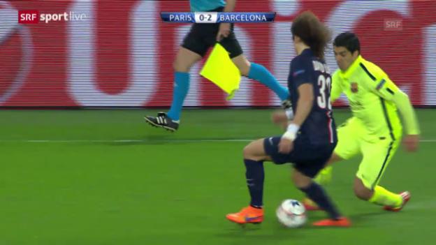 Video «Fussball: Champions League, Suarez tunnelt Luiz zweimal» abspielen