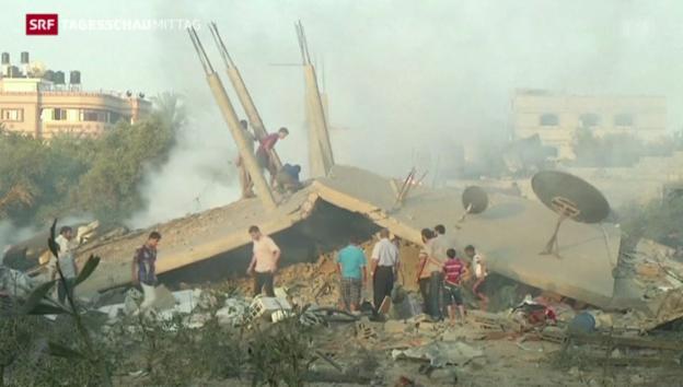 Video «Hamas feuert Raketen, Israel startet Offensive» abspielen