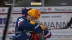Video «Die ZSC Lions mit zu knappem Sieg gegen Langnau» abspielen
