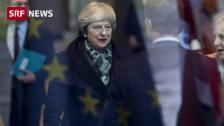 Link öffnet eine Lightbox. Video May auf Brexit-Tour abspielen