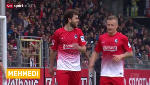 Video «Fussball: Bundesliga, Mehmedis Doppelpack gegen Gladbach» abspielen