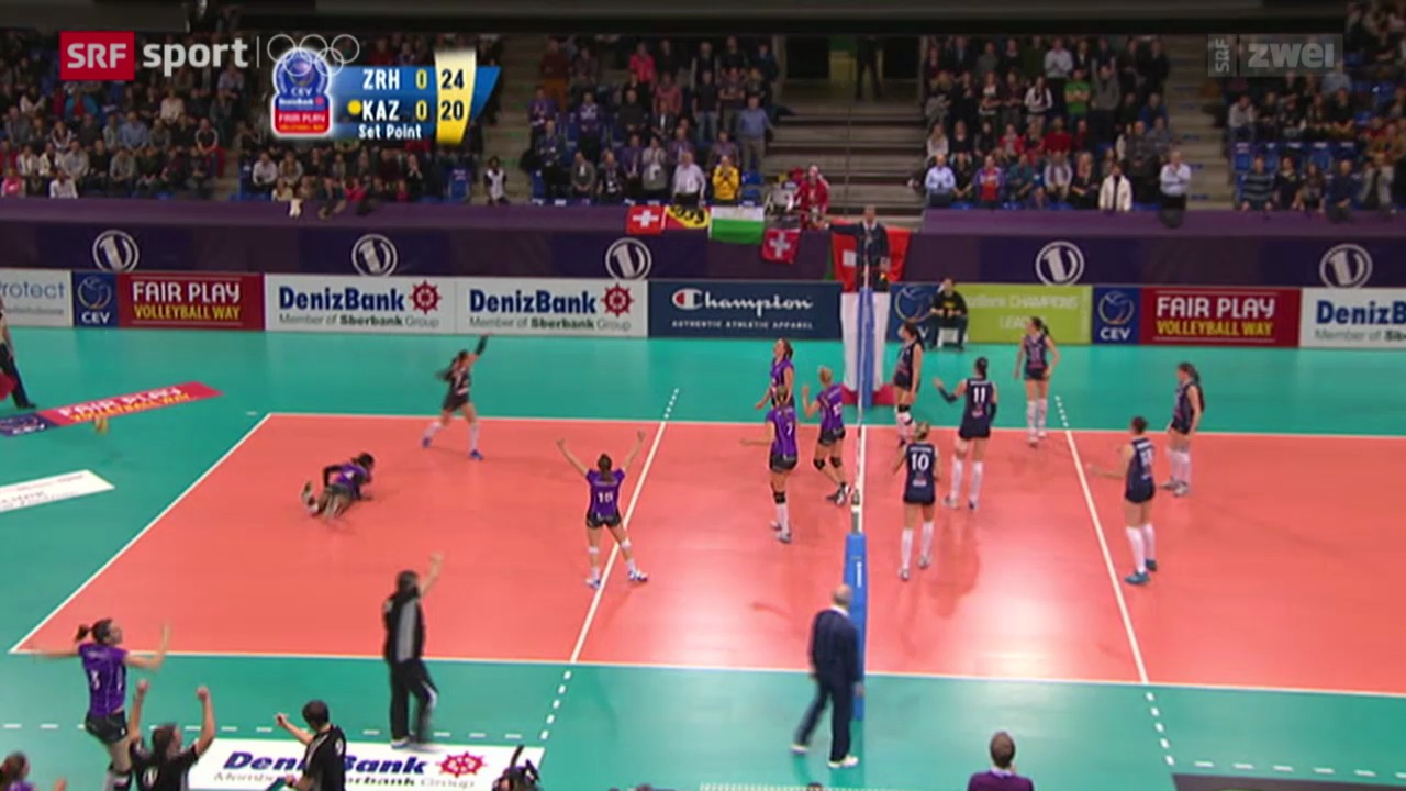 Volleyball: Champions League, Viertelfinal-Hinspiel