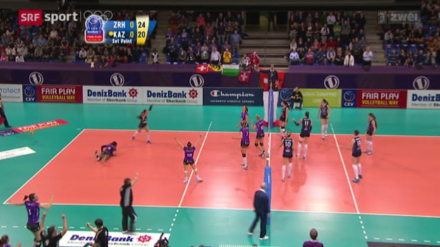 Video «Volleyball: Champions League, Viertelfinal-Hinspiel» abspielen