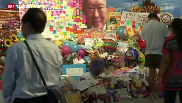 Video «Singapurs Staatsgründer ist tot» abspielen