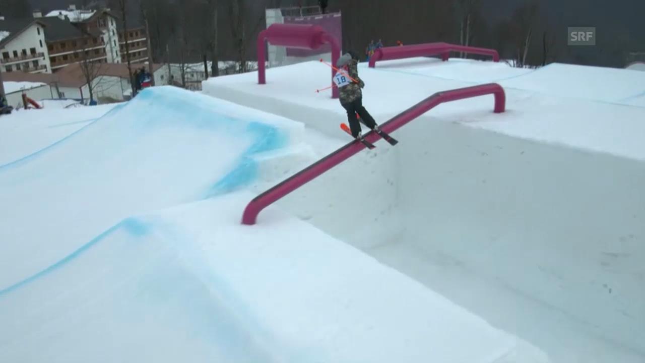 Freestyle Ski: Slopestyle Frauen, 2. Final-Run Camillia Berra (sotschi direkt, 11.02.2014)