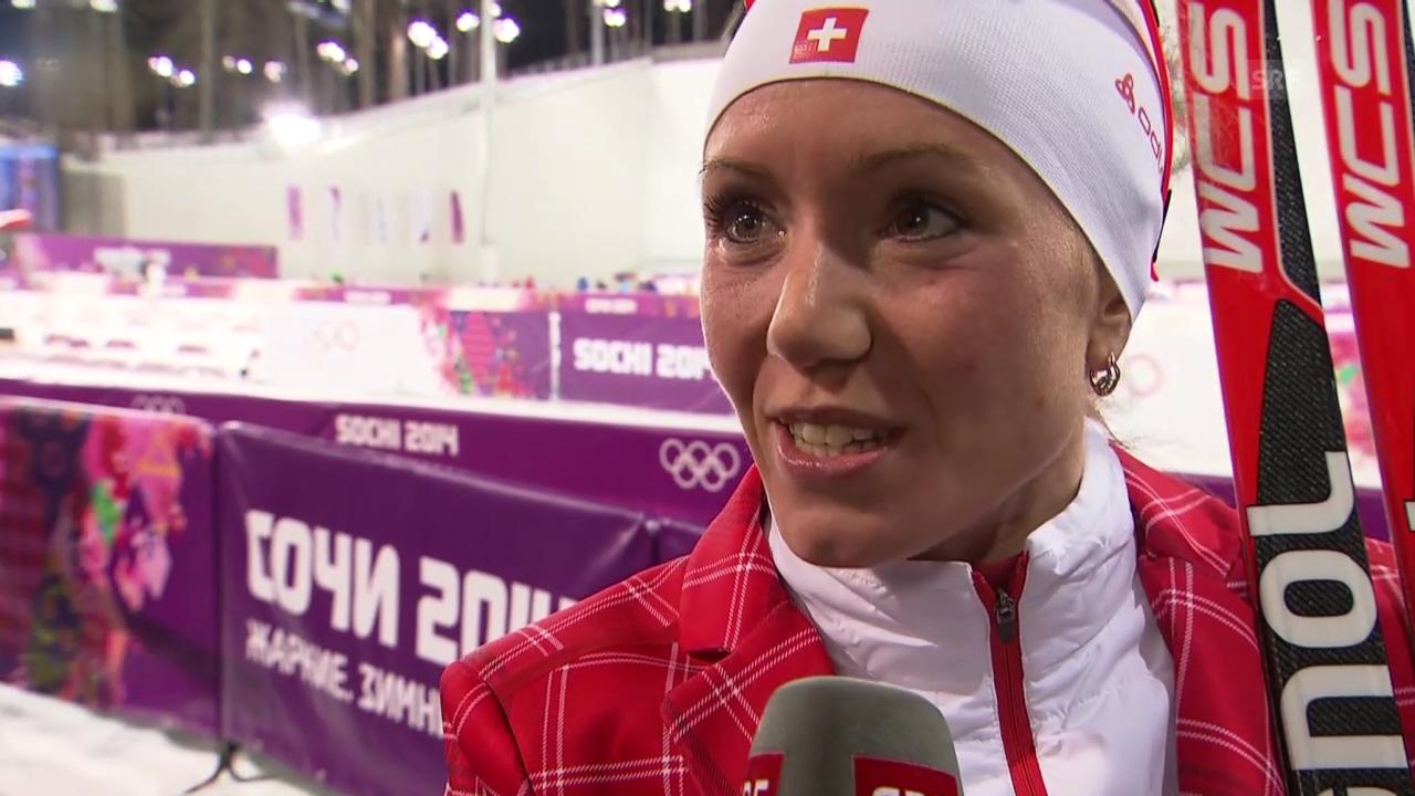 Biathlon: Frauen, Interview mit Selina Gasparin (sotschi direkt, 14.2.2014)