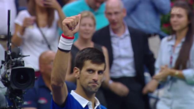 Video «Tennis: Djokovic lässt Cilic keine Chance» abspielen