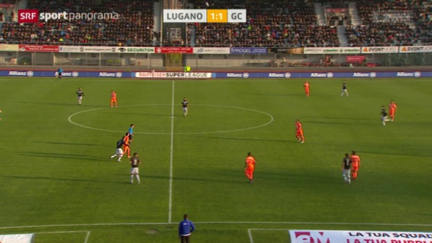 Video «Fussball: Super League, Lugano - GC» abspielen
